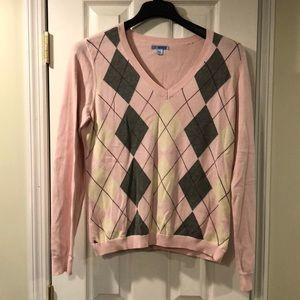 Izod Argyle pink sweater